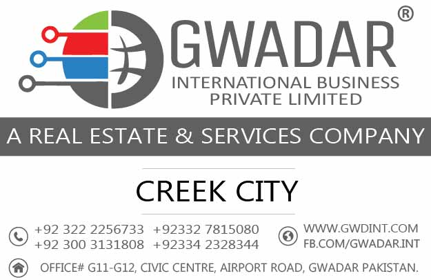 Creek City Gwadar, Gwadar commercial project, Commercial plots in Gwadar