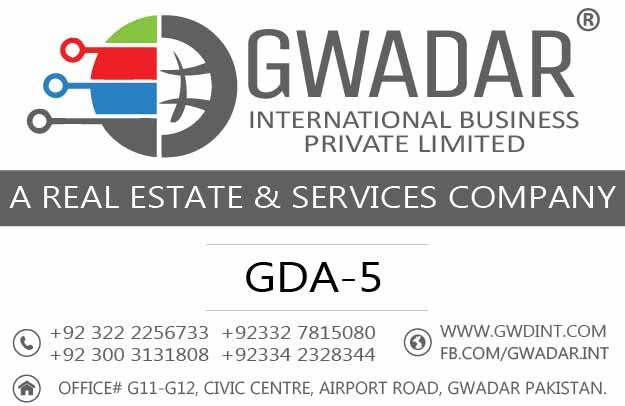 Gwadar online property, Gwadar private society, GDA-5, Investment in Gwadar